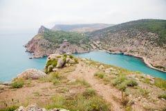 Vagga vid havet Krim Arkivbilder