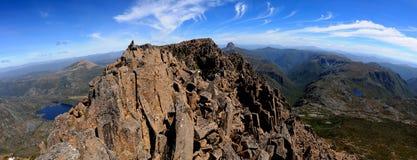vaggabergtoppmöte tasmania Arkivbild