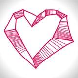 Vaggad hjärta Vektor Illustrationer
