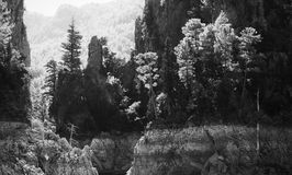 Vaggar av den gröna kanjon sjön i Turkiet Arkivbild
