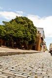 vaggar den gammala Puerto Rico vägen för 2 juan san Arkivbilder