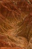 Vaggar den röda orange sandstenen för den torra dalen bildande in Fotografering för Bildbyråer