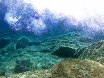 vaggar havet under Royaltyfri Bild