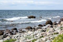 Vaggar i Östersjön Royaltyfri Fotografi