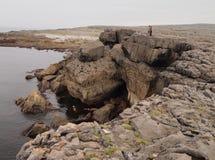 Vaggar i Burrenen i Irland Arkivfoto