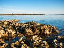 Vaggar i havet, pulaen, Kroatien Arkivbild