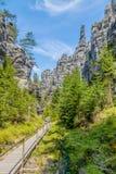Vaggar i nationalparken av Adrspach-Teplice vaggar - Tjeckien Royaltyfria Bilder