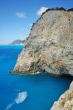Vaggar nära den Porto Katsiki stranden, Lefkada, Ionian öar Fotografering för Bildbyråer