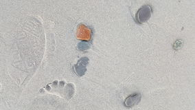 Vaggar och fotspår Arkivfoton
