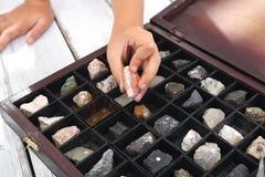 Vaggar och mineraler Arkivbild