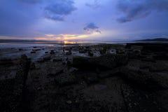 Vaggar på stranden Royaltyfria Foton
