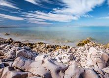 Vaggar på stranden Arkivfoto
