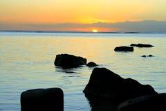 vaggar solnedgång Royaltyfri Fotografi