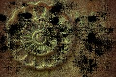 Vaggar utsmyckad stentextur för Grunge, cirkel form, bakgrund för webbplats eller mobila enheter Fotografering för Bildbyråer