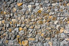 Vaggar wallAncient kopplingar för sten av skalet textur Royaltyfri Fotografi