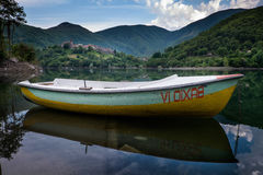 Vagli di Sotto village on Lago di Vagli, Vagli lake, Tuscany, It Royalty Free Stock Photography