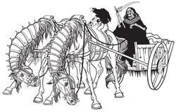 Vagn av död vektor illustrationer