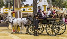 Vagn av hästar Royaltyfri Foto