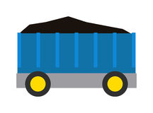 Vagn av koldrevillustrationen Vektor Illustrationer