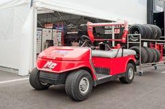 Vagn för hjälpmedel för RC-formellag Royaltyfria Foton