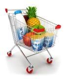 vagn för shopping 3d vektor illustrationer
