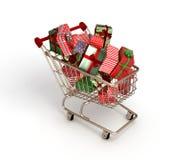 vagn frambragd shopping för bild 3d Arkivfoto