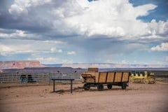 Vagn i Grand Canyon Royaltyfri Fotografi