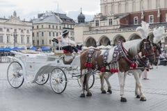 Vagn i Krakow Royaltyfria Bilder