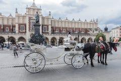 Vagn i Krakow Royaltyfri Bild
