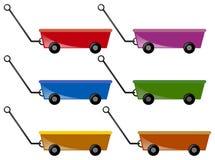Vagn i sex färger royaltyfri illustrationer