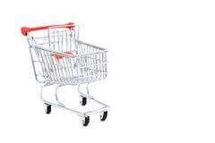 vagn isolerad shopping Arkivfoto