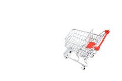 vagn isolerad shopping Royaltyfria Bilder
