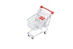 vagn isolerad shopping Arkivbilder