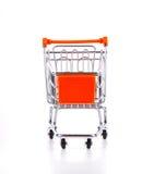 vagn isolerad shopping Fotografering för Bildbyråer