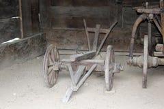 vagn och plog Royaltyfri Fotografi