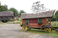 Vagn på det tyska museet på Frutillar, Chile Royaltyfri Foto