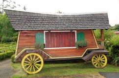 Vagn på det tyska museet på Frutillar, Chile Arkivbilder