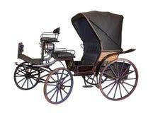 Vagn vid sent - århundrade för th 19 på vit Royaltyfri Foto