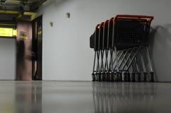 Vagnar på underjordisk parkering Royaltyfri Bild