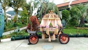 Vagnen parkerar Arkivfoto