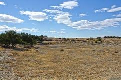 Vagnhjul Swales från Santa Fe Trail Royaltyfria Foton