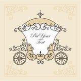 vagnsbröllop Fotografering för Bildbyråer