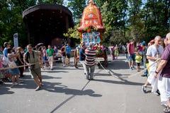 Vagnsfestivalen kallade `-Ratha Yatra ` i Sofia Royaltyfri Foto