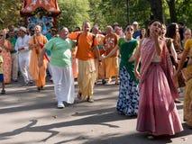 Vagnsfestivalen kallade `-Ratha Yatra ` i Sofia Royaltyfri Bild