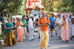 Vagnsfestivalen kallade `-Ratha Yatra ` i Sofia Arkivbilder