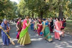 Vagnsfestivalen kallade `-Ratha Yatra ` i Sofia Arkivfoton