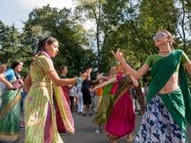 Vagnsfestivalen kallade `-Ratha Yatra ` i Sofia Royaltyfria Bilder