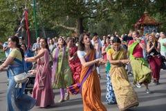 Vagnsfestivalen kallade `-Ratha Yatra ` i Sofia Royaltyfri Fotografi