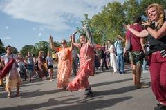 Vagnsfestivalen kallade `-Ratha Yatra ` i Sofia Arkivbild