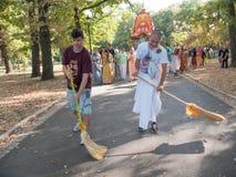 Vagnsfestivalen kallade `-Ratha Yatra ` i Sofia Arkivfoto